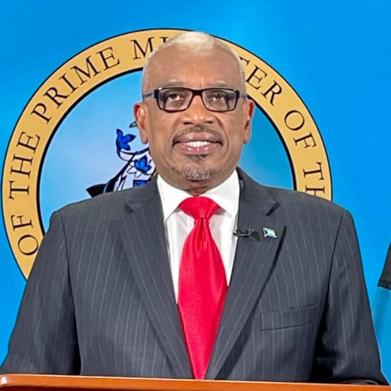 Bahamas Prime Minister Hubert Minnis gives national address