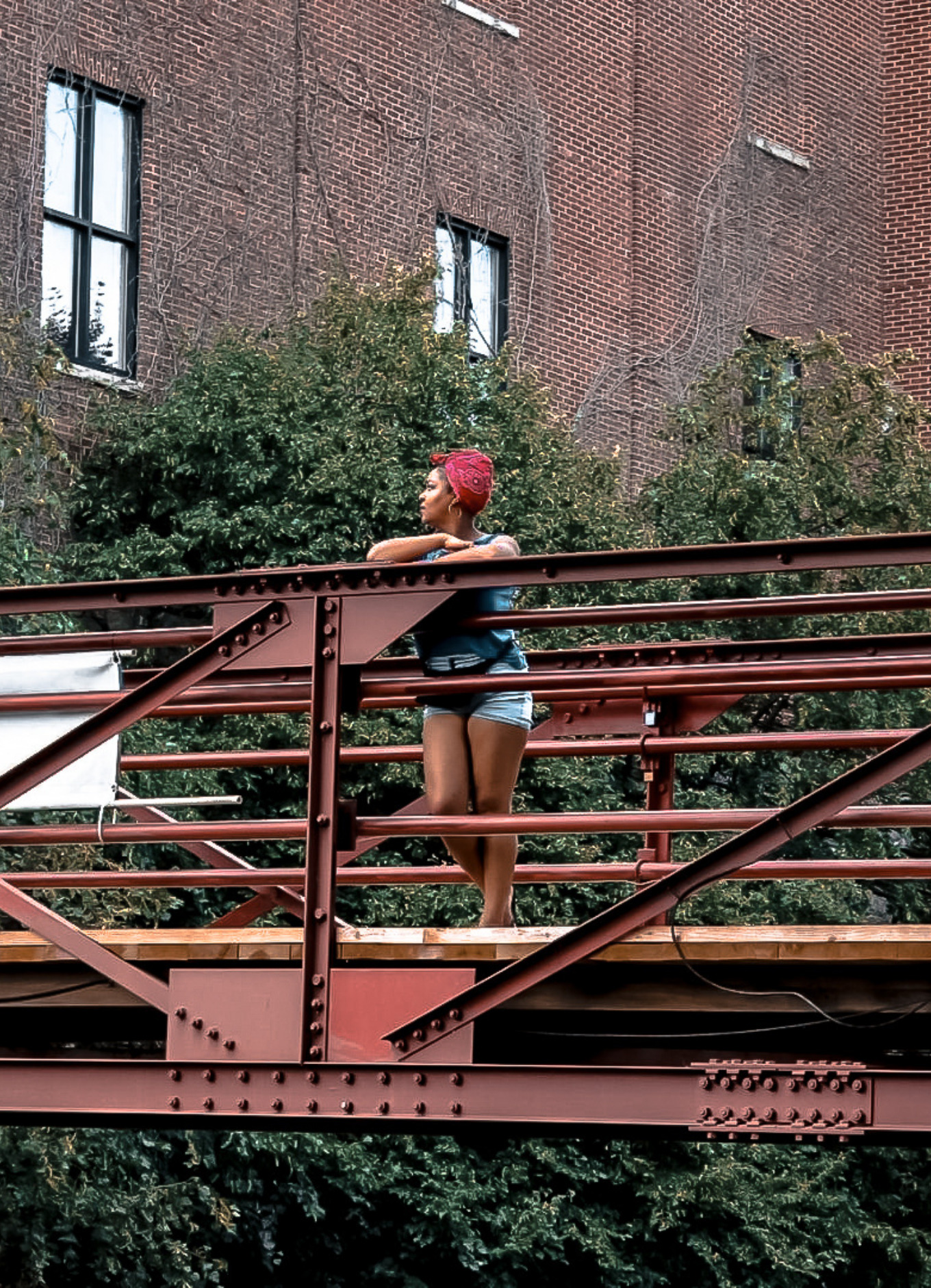 This Bahamian Gyal blogger, Rogan Smith looks over the bridge at the C&O Canal in Georgetown, DC
