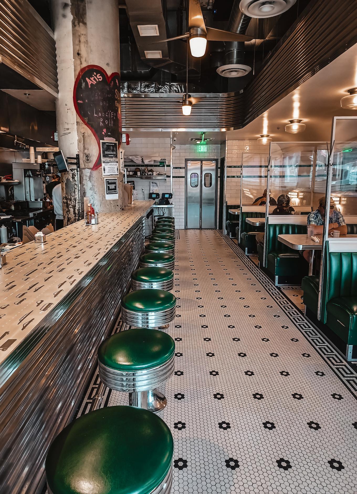 Image of the interior of Ari's Diner in Northeast Washington DC