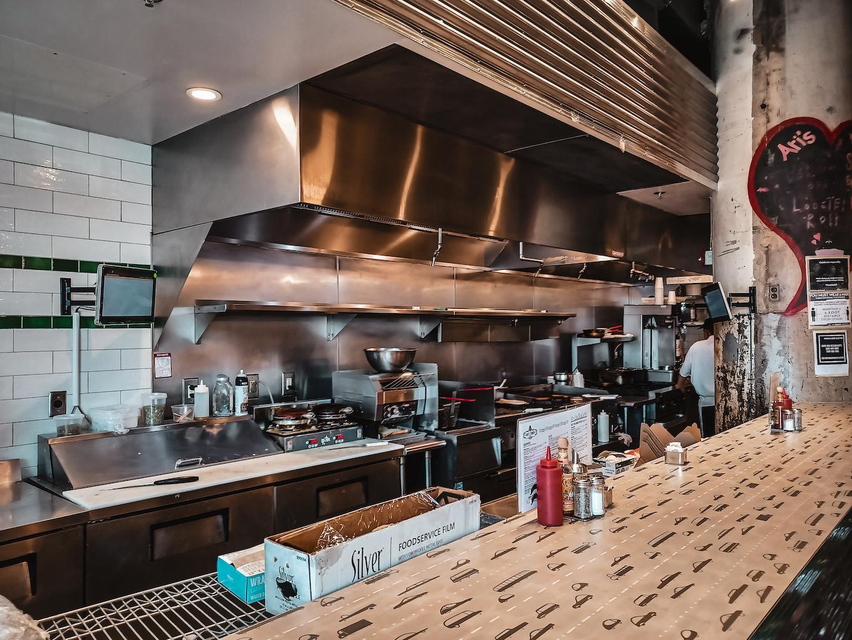 Interior of Ari's Diner kitchen DC