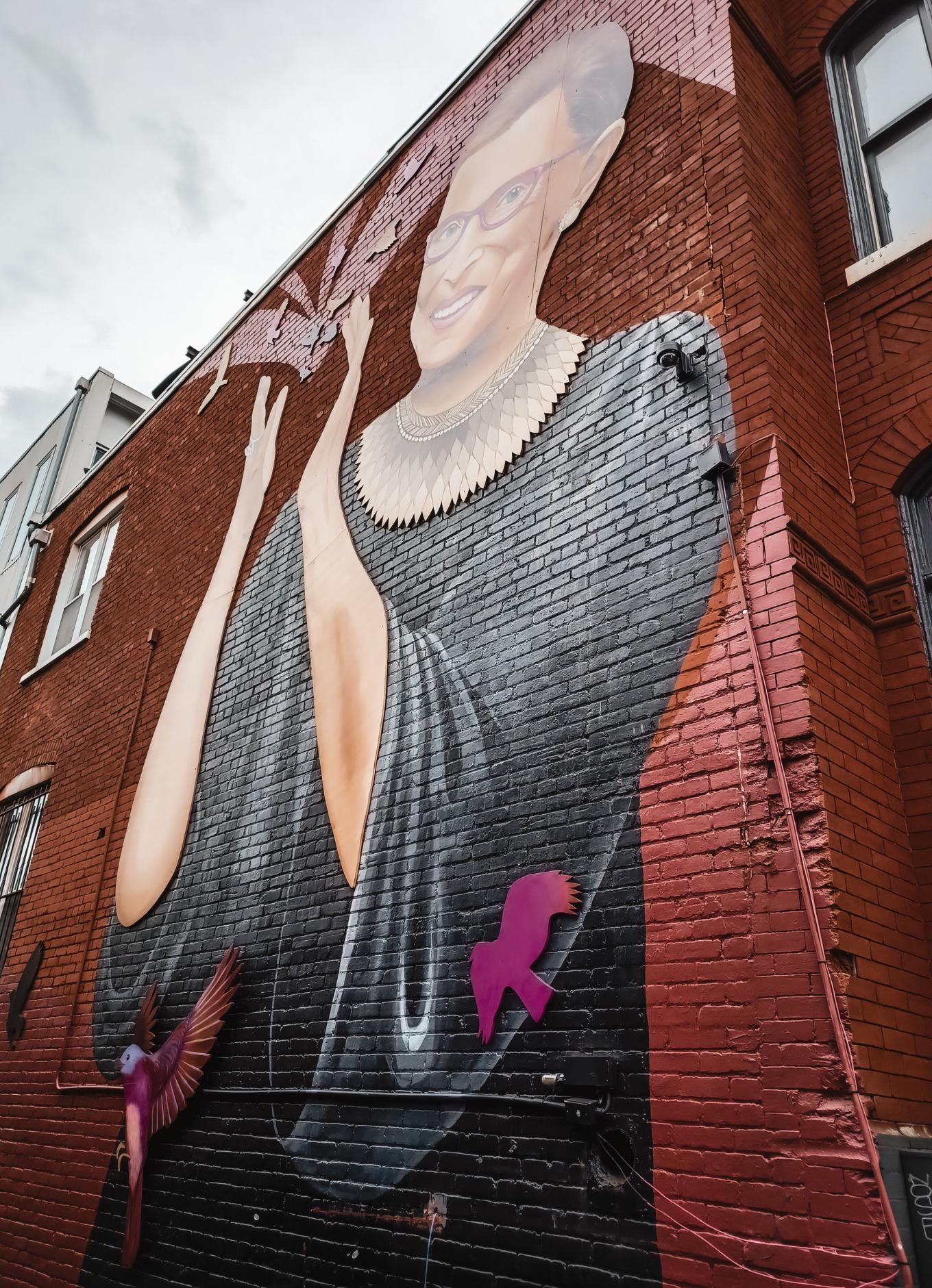 Ruth Bader Ginsburg mural in Washington DC