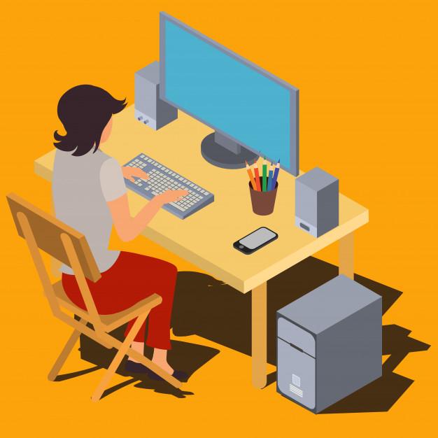 website development by woman