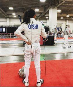 Megumi Oishi alone on the strip