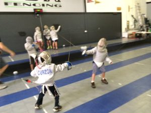 Safety gear keeps the fencing fun and safe