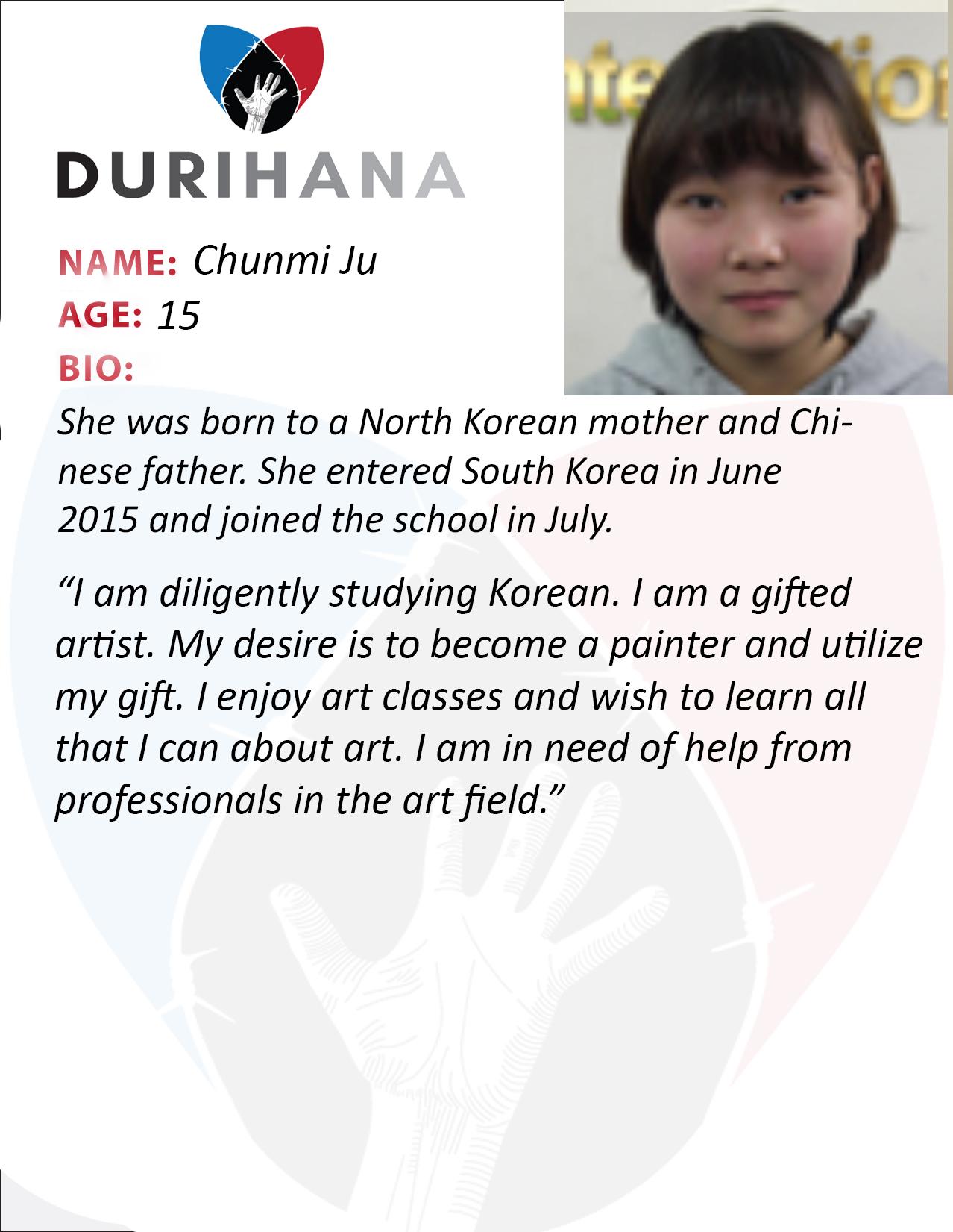 Chunmi Ju Student Bio