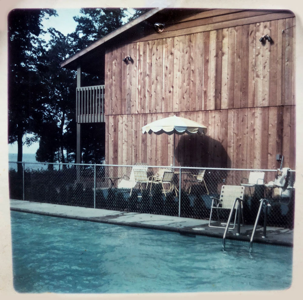 Vintage photo of the pool area