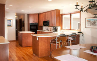 West Ridge full kitchen with a refrigerator, dishwasher, double ovens, glass cooktop, and microwave