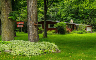 Falun House, a private, ranch-style home with three bedrooms and two full baths