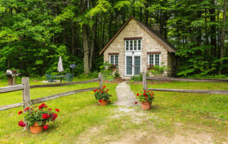 The Studio, a charming, private studio cottage located on 17 acres of forest