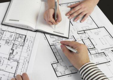 Discussing blueprints for handyman services Denver CO