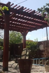 Pergola Finished as One of Many Local Handyman Jobs