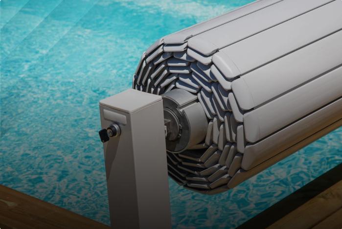 Pool heating installation