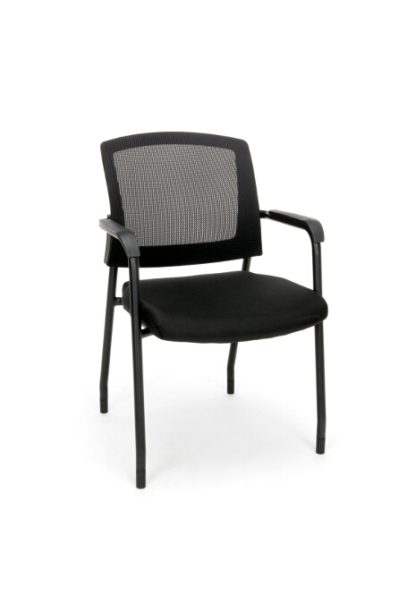 424 MESH CHAIR GUEST/RECEPTION CHAIR WITH ARMS