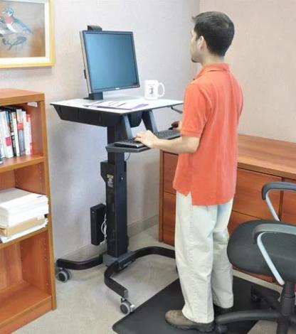 WorkFit-C Single LD SitStand Workstation 03