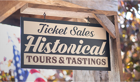 Historical tours sign