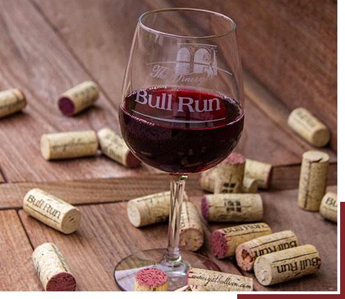 Photo of Bull Run wine glass