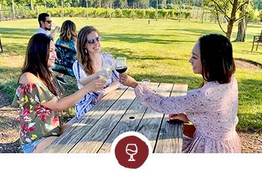 Women having wine
