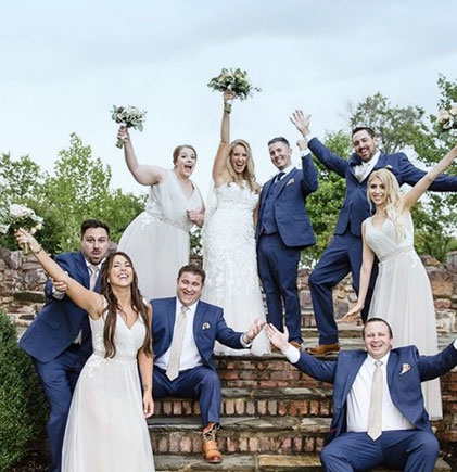 Wedding at the Hillwood ruins