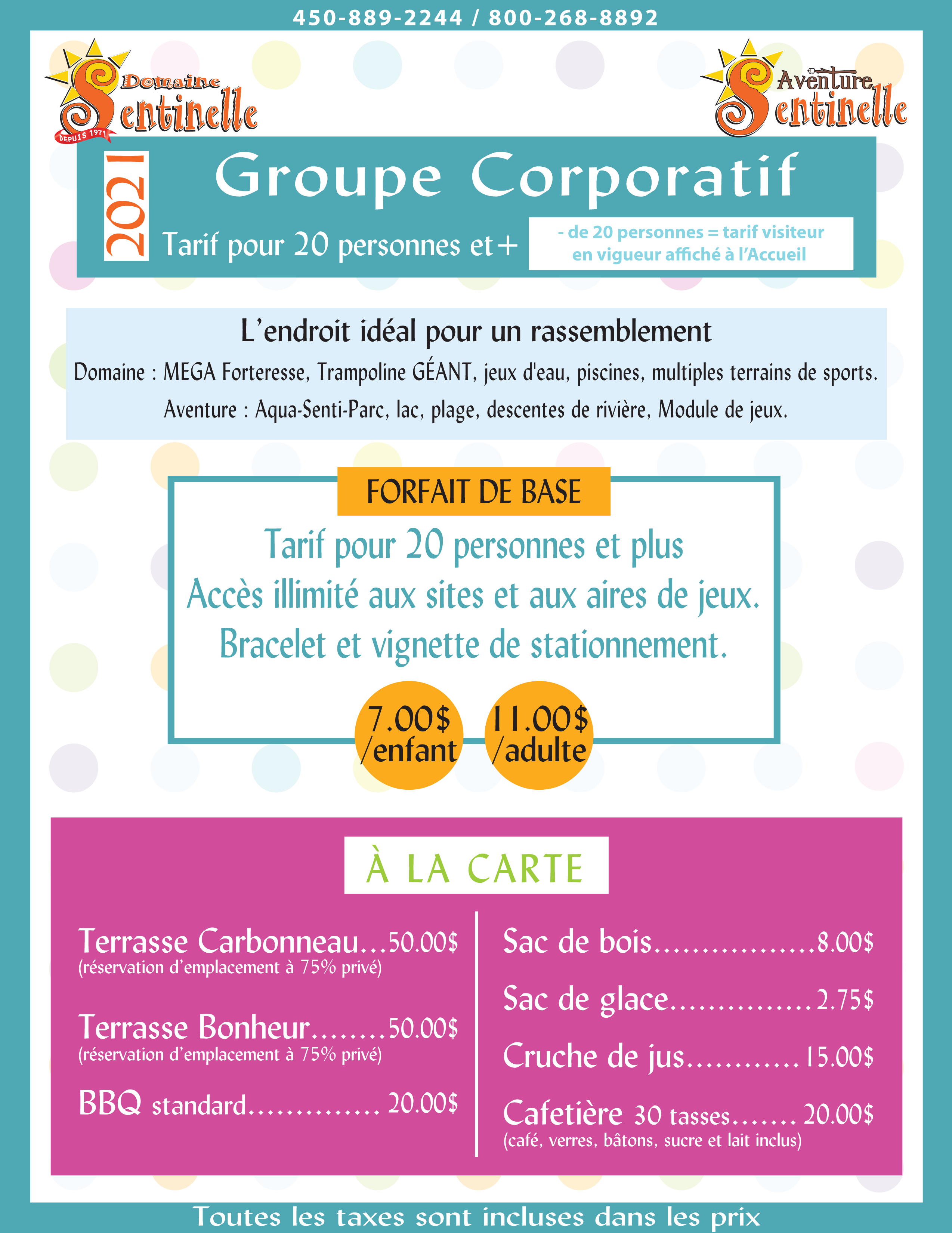 Groupe Corporatif PUB 2021