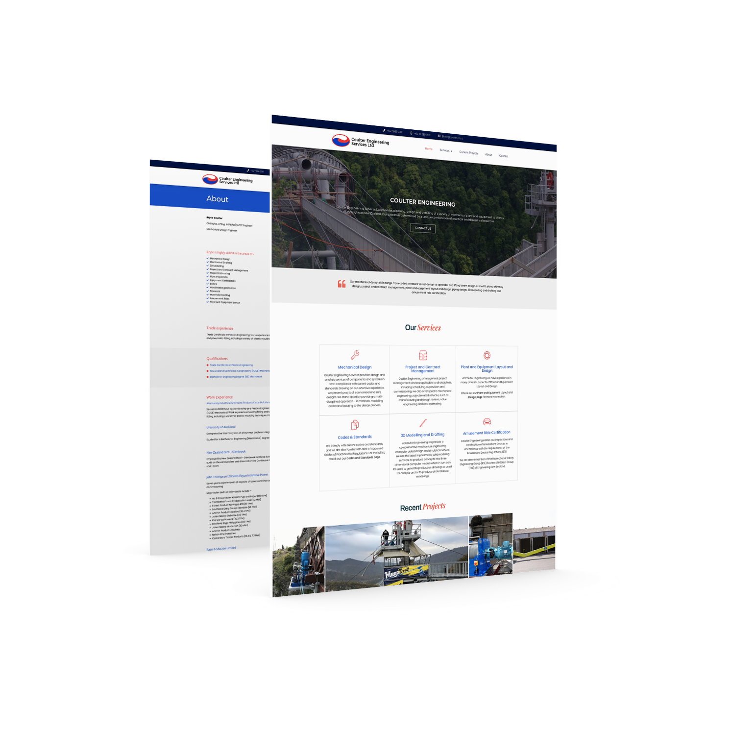 Coulter Engineering Website Design | DB IT New Zealand