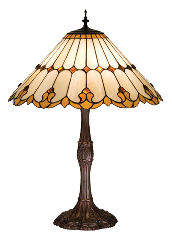 Nouveau Cone Stained Glass Table Lamp