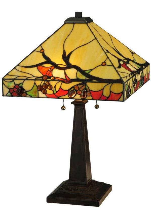 """25"""" H Woodland Berries Accent Lamp"""