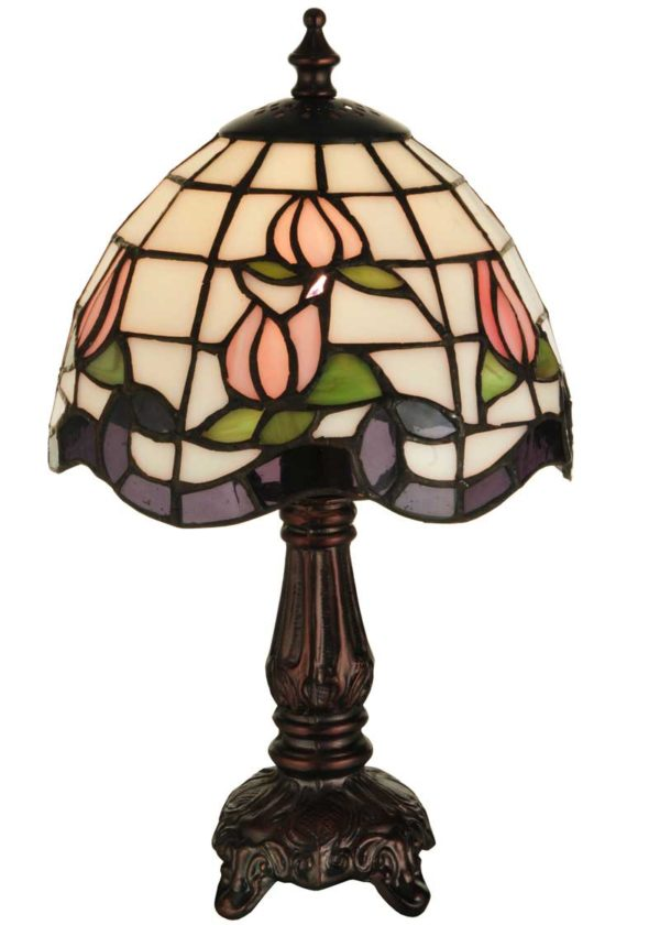 """Roseborder 12"""" Stained Glass 