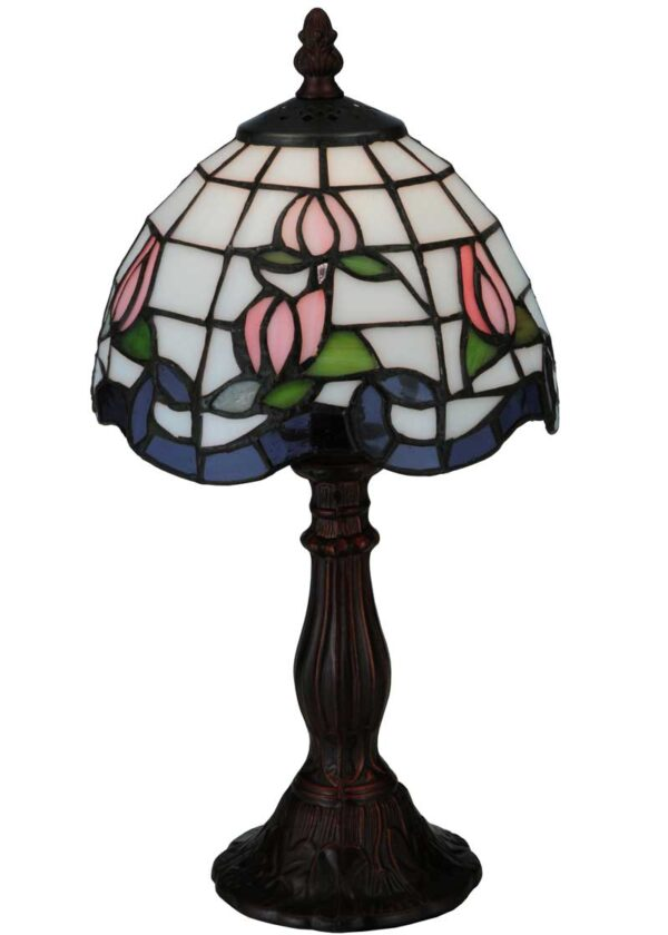 Roseborder | Stained Glass Small Table Lamp