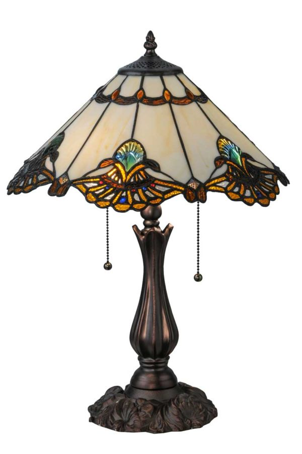 """21"""" H Shell With Jewels Table Lamp"""