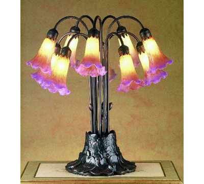 Tiffany Stained Glass Pondlily Accent Lighting   10 Light