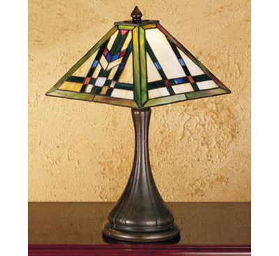 Prairie Wheat Stained Glass Accent Table Lamp