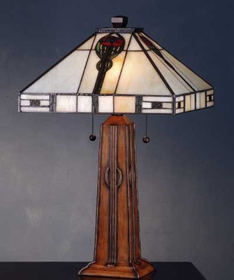 Parker Poppy Stained Glass Accent Lamp