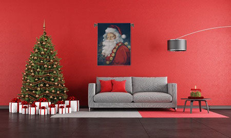 St Nick Christmas Tapestry