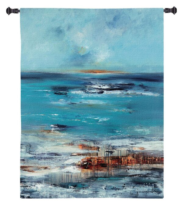 Coastal Connection   Woven Tapestry Wall Hanging   45 x 45