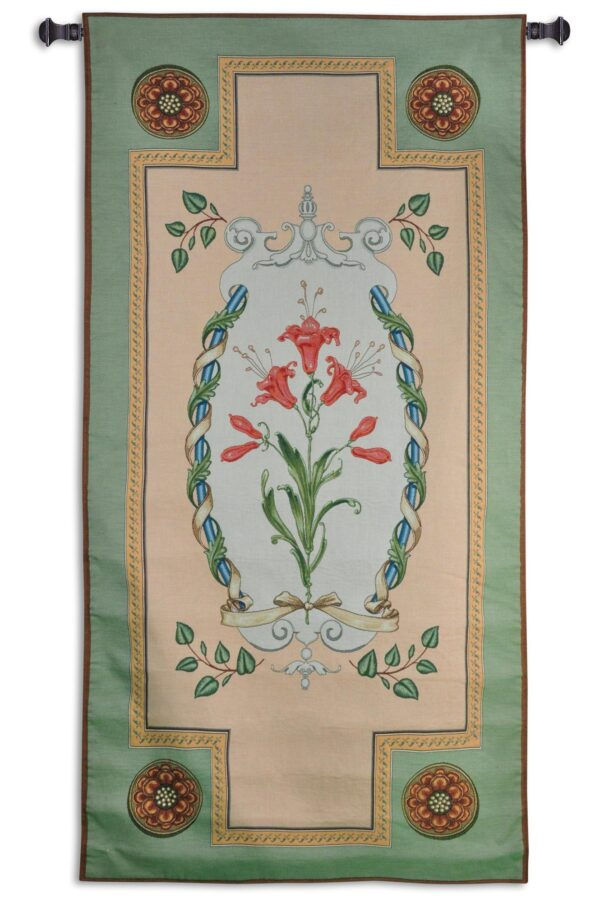 French Lily   French Country Wall Tapestry   65 x 32