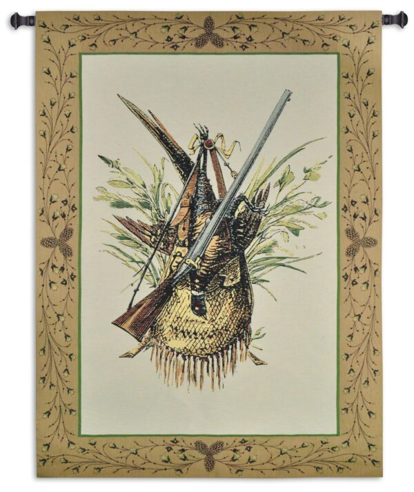 Hunting Gear   Rustic Woven Tapestry Wall Hanging   59 x 44