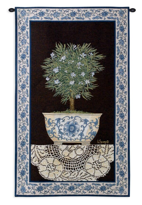 Ivy Topiary II   French Country Wall Tapestry   43 x 26