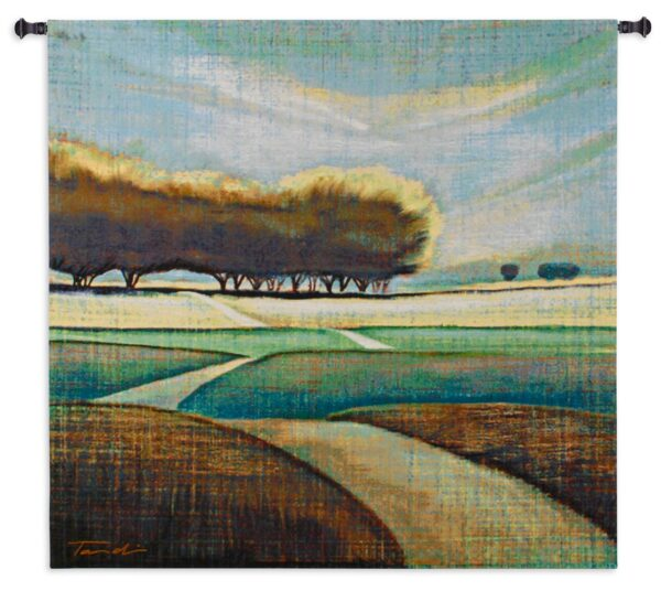 Looking Back II   Contemporary Landscape Art Tapestry   48 x 52