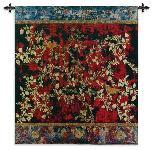 Love Birds   Large Contemporary Tapestry   55 x 53