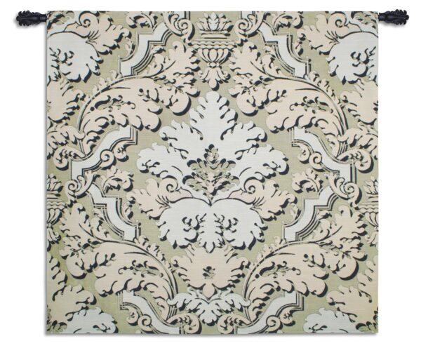 Luster Latte | Woven French Country Motif Art Tapestry | 51 x 52