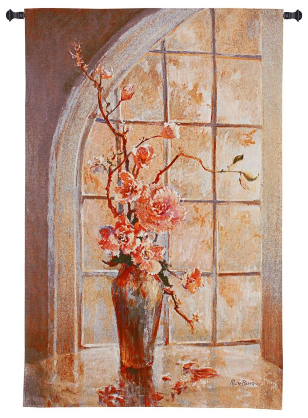 Magnolia Arch I   Woven Floral Tapestry Wall Hanging   53 x 34