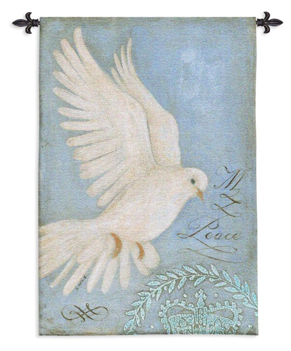 Peace Dove   French Country Wall Tapestry   53 x 36