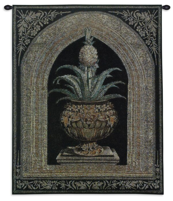 Pineapple Urn | Traditional Wall Tapestry | 34 x 26