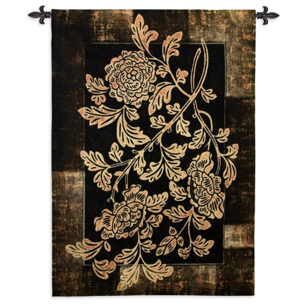 Textured Floral   Woven Art Tapestry   53 x 37