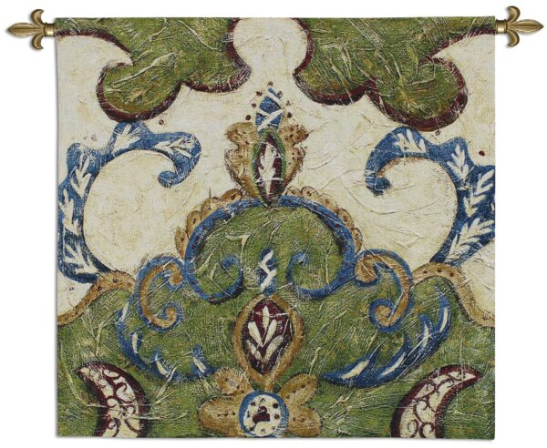 Textured Tapestry I | Woven Motif Tapestry | 31 x 31