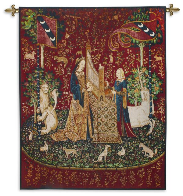 The Lady and the Unicorn Smell | Traditional Woven Art Tapestry | 65 x 53