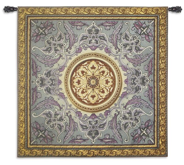 Violaceous Beauty   Woven French Country Motif Tapestry   52 x 52