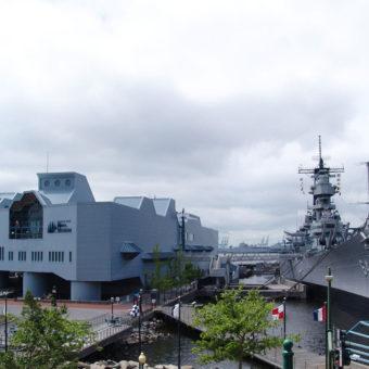 National Maritime Center Nauticus Featuring Battleship Wisconsin and The Hampton Roads Naval Museum, Norfolk, VA