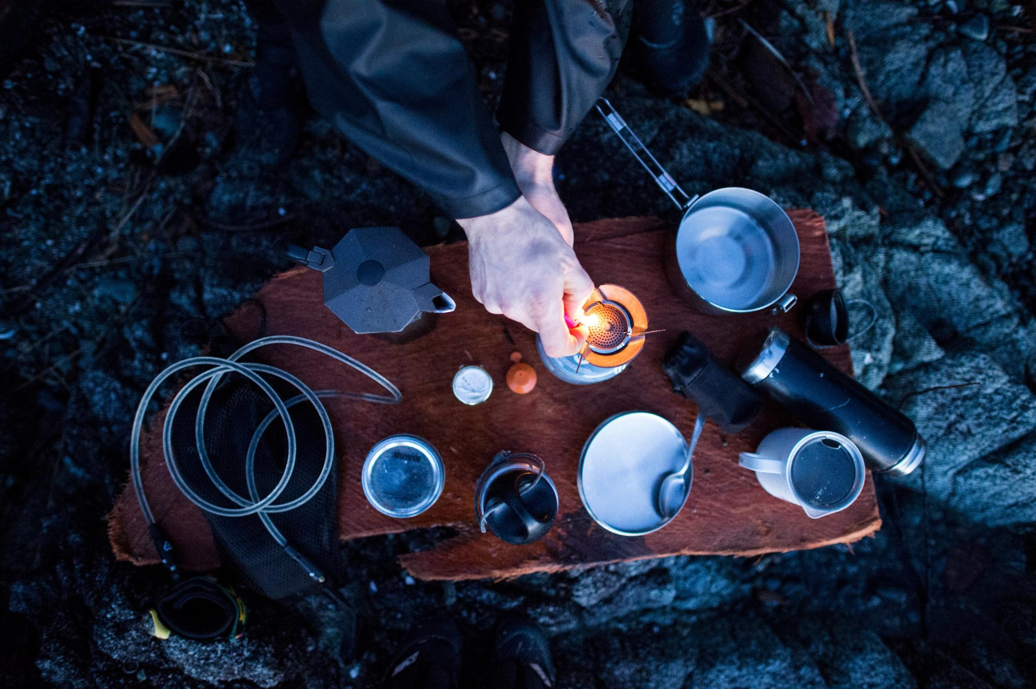 Making Coffee By The Surf