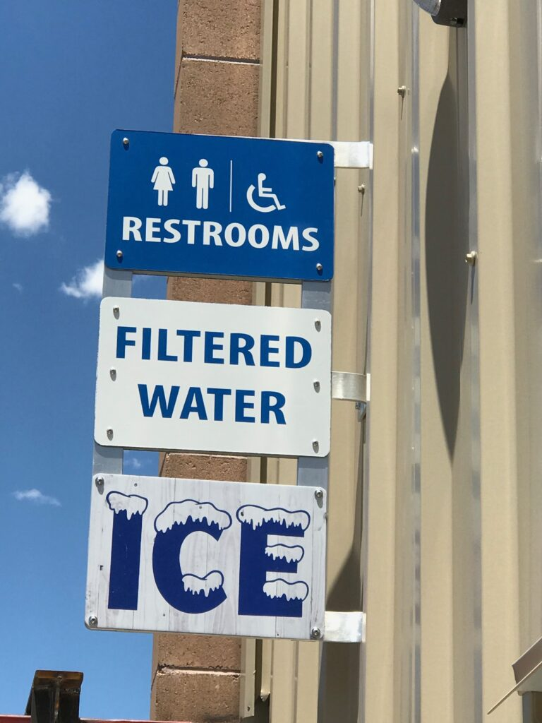 filtered water & ice